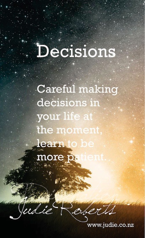 Decisions Divination Card