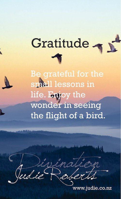 Gratitude Divination Card