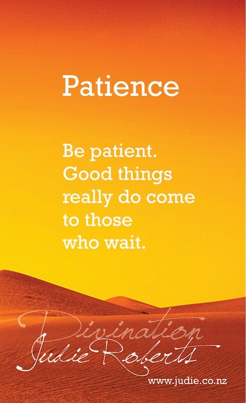 Patience Divination Card