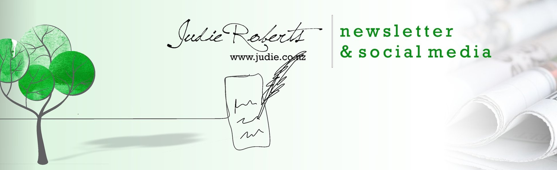 Newsletter & Social Media with Judie Roberts